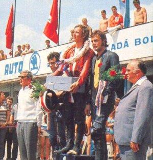 Czech Republic 1972?, 250cc, Renzo at Jarno's right side