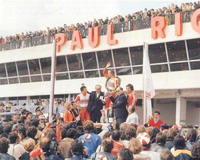 France 1973, 500cc,  celebration Yamaha and Jarno's first victory