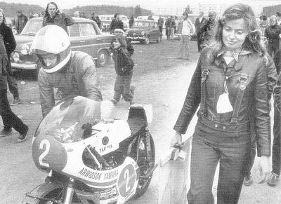 1972, 250cc Yamaha (with Soili)